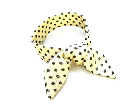 Bun Wrap, Polka Dot Fabric, Bun Crown, Top Knot Hair Tie, Wired Bun Tie, Wrist Wrap, Small Neck Accent, Under 15 Dollars, Ready to Ship