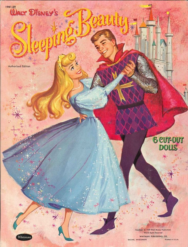 Walt Disney's Sleeping Beauty Paper Dolls by CollectYourChildhood, $30.00