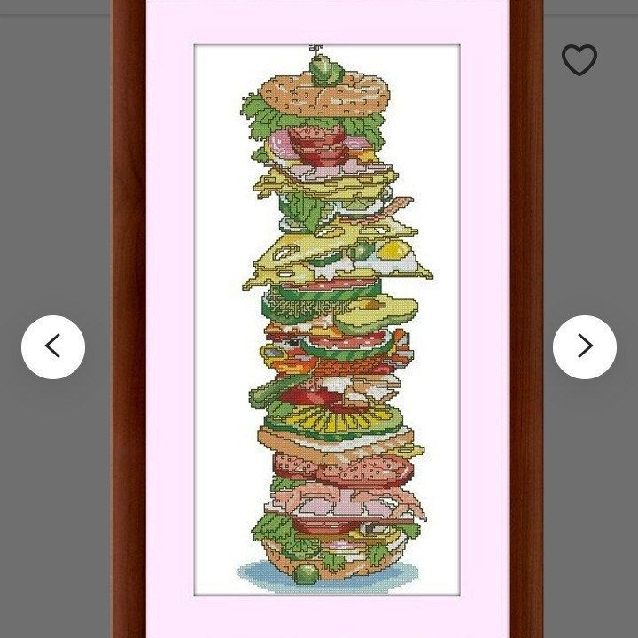 Chart Counted Cross Stitch Patterns Needlework DIY DMC Color A Shared Meal