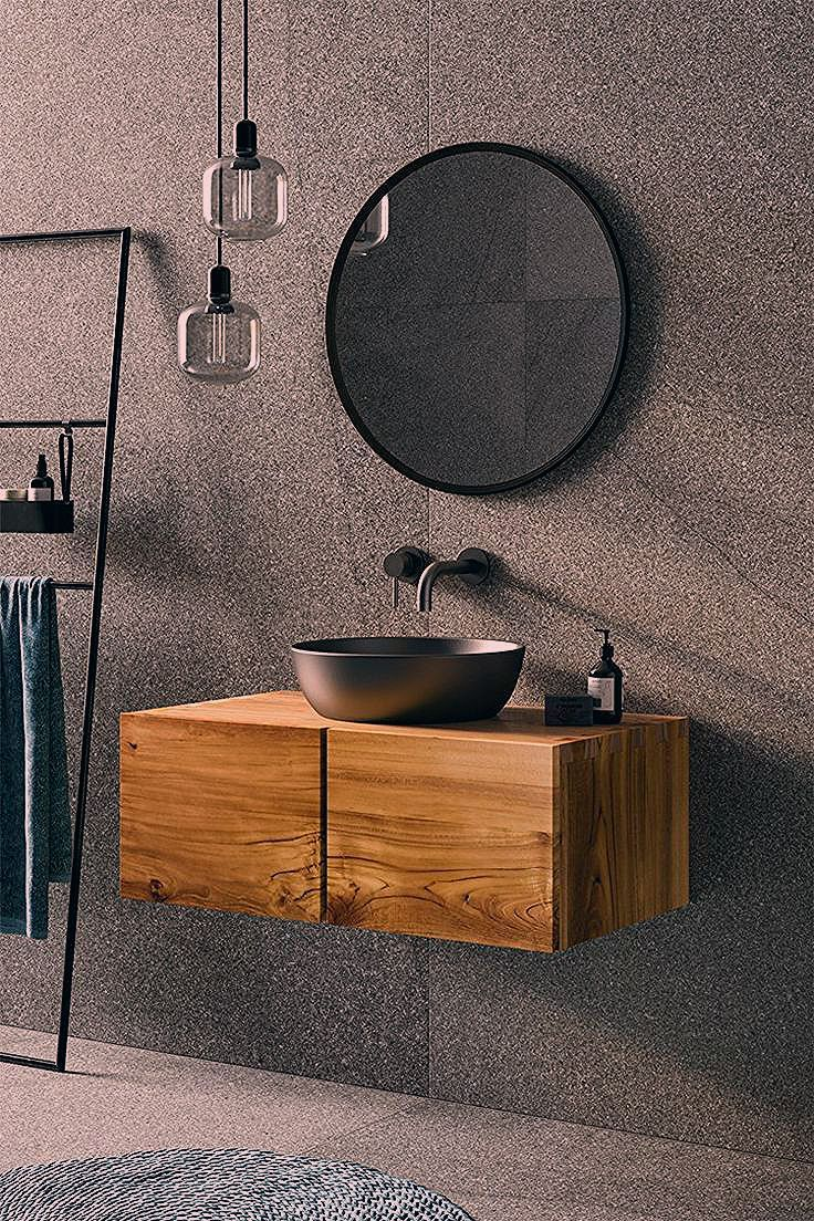 Furnish Your Bathroom In A Rustic Way How To Create A Unique Bathroom Ambience Genel In 2020 Badezimmer Rustikal Unterschrank Badezimmer