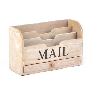 Old Fashioned Wooden Mail Organizer