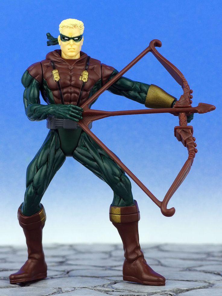 DC Comics Justice League of America GREEN ARROW Action Figure JLA Kenner 1998 #Hasbro