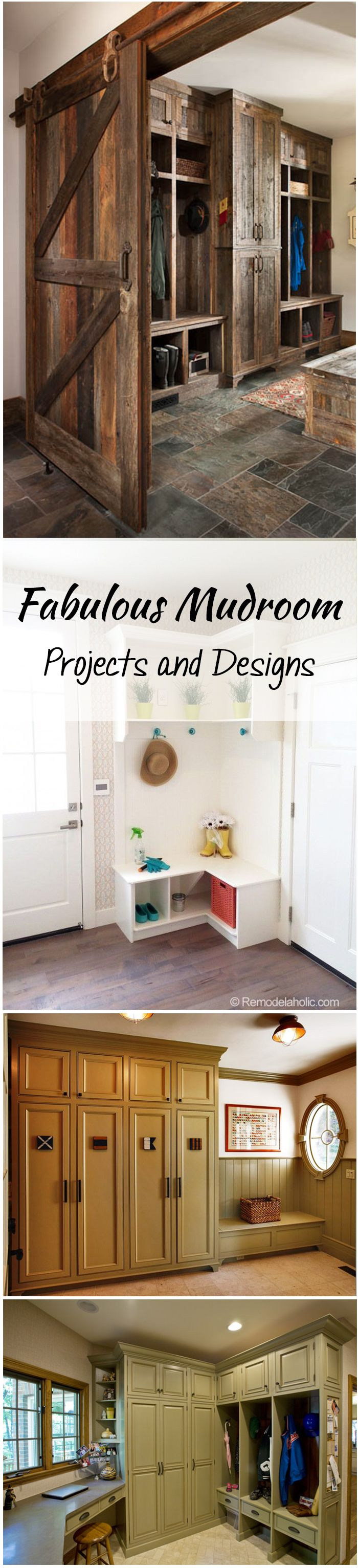 I love these mudrooms. There are designs if you have a lot of space, and not so much!