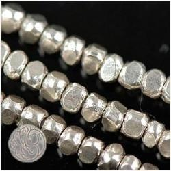 Thai Karen Hill Tribe Silver 3mm Triangular Faceted Nugget Beads 85 beads $27.95