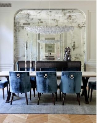 Beautiful mirrored niche in dining room less is a bore for Dining room niche ideas