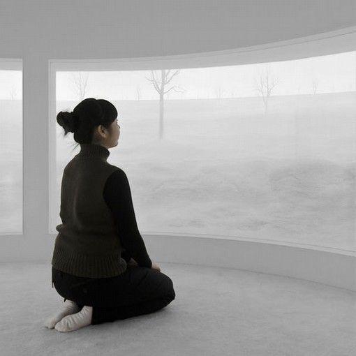 Hans Op de Beeck, Location (6), 2008, sculptural installation, mixed media, 18 m diameter x 4 m height. Galleria Continua Beijing, 2008. Photo credit: Studio Hans Op de Beeck