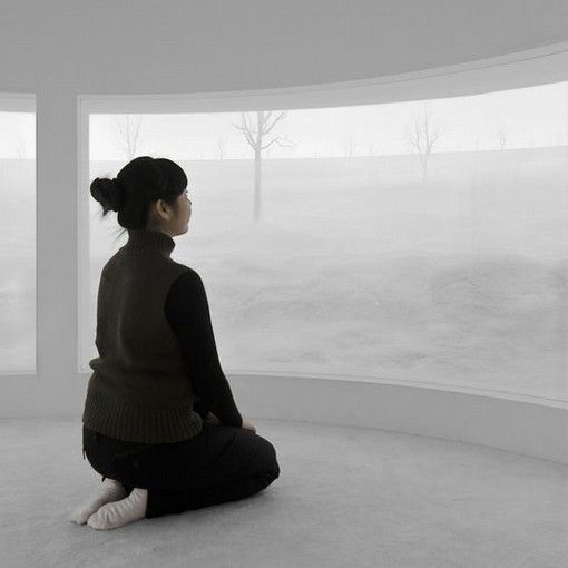 Hans Op de Beeck, Location (6), 2008, sculptural installation, mixed media, 18 m diameter x 4 m height. Galleria Continua Beijing, 2008. Photo credit: Studio Hans Op de Beeck