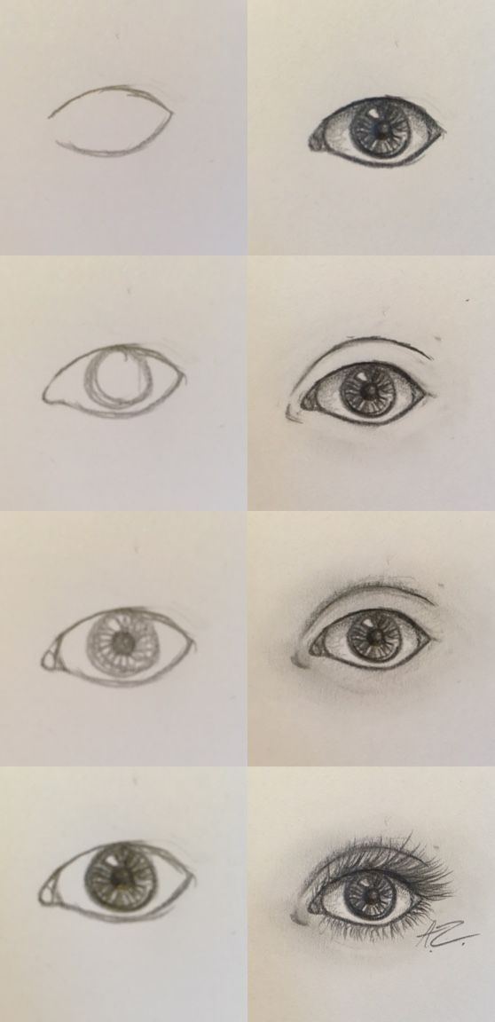 How To Draw A Semi Realistic Eye Step By Step Drawing How To