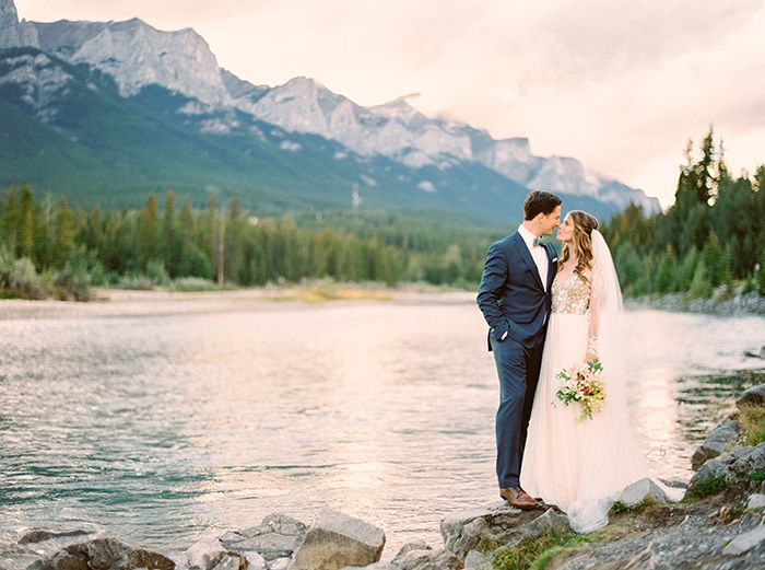 Magical Mountain Elopement in The Rockies - #blue #elegant #elopement