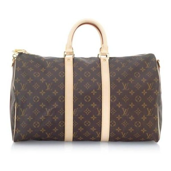 Louis Vuitton Monogram Canvas Keepall 45 with Shoulder Strap Luggage (960  BRL) ❤ liked 81d84e2bdcc