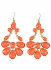Coral Fanfare Earrings