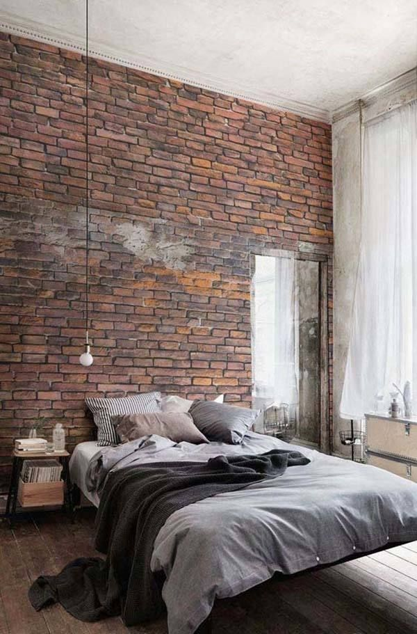 Best 25 industrial bedroom design ideas on pinterest for Exposed brick wall mural