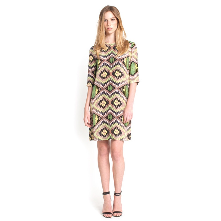 Grace Dress - Green Kilim