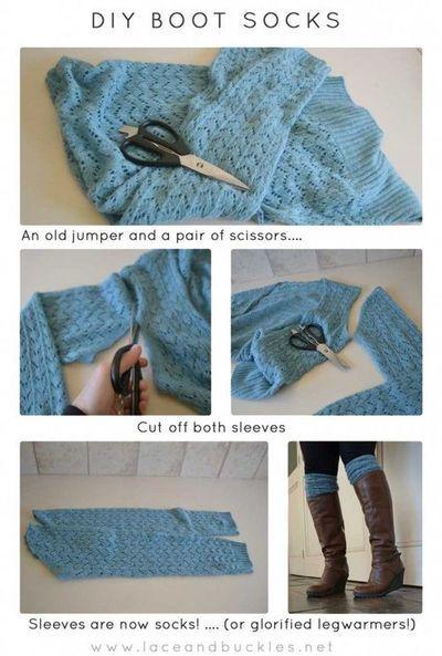 Easy DIY Boot Socks.