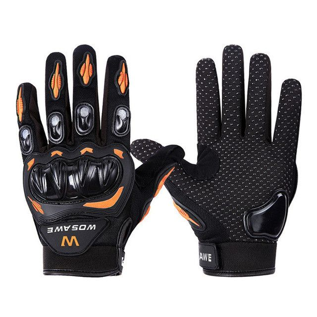 WOSAWE Unisex Tactical Long Finger Protective Motorcycle/Cycling Gloves [Sz M/L/XL]
