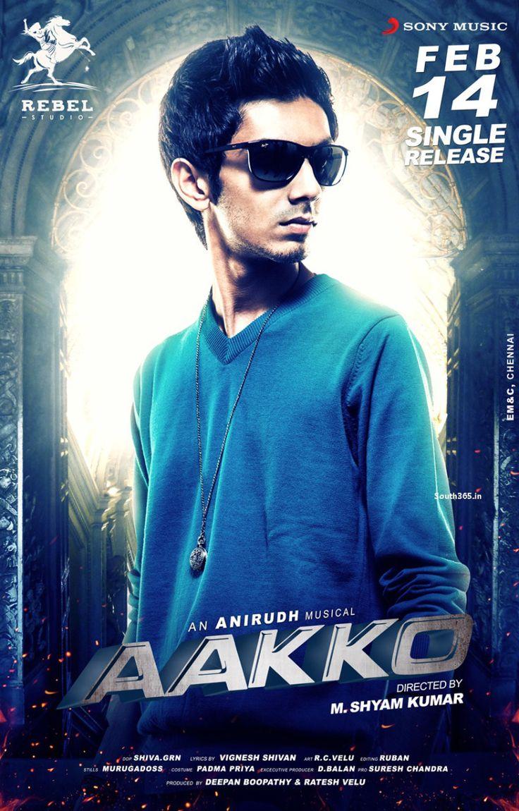 Music Director Anirudh Ravichander Tamil Movie Aakko HD Poster