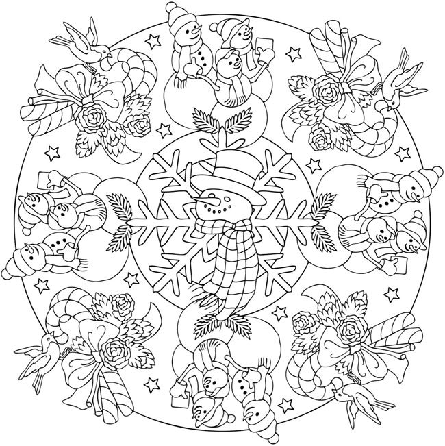 Christmas Mandala Coloring Book