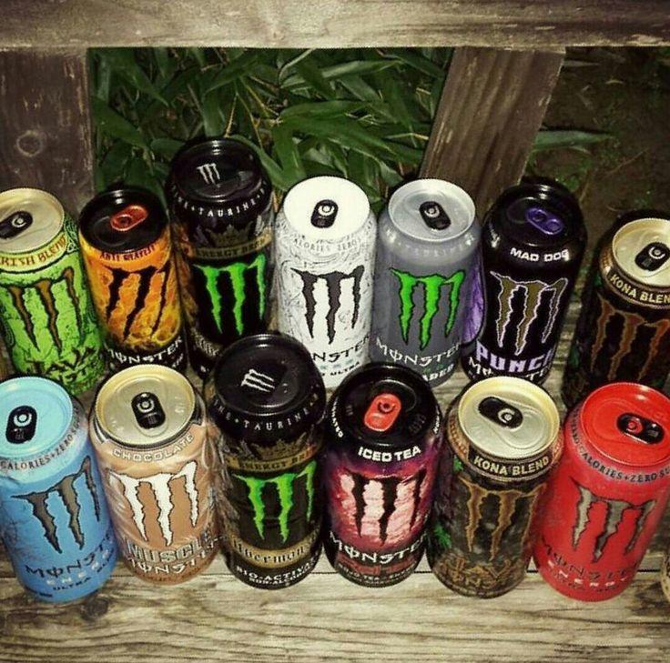 Monster energy drinks keep me going. #monsterenergydrinks
