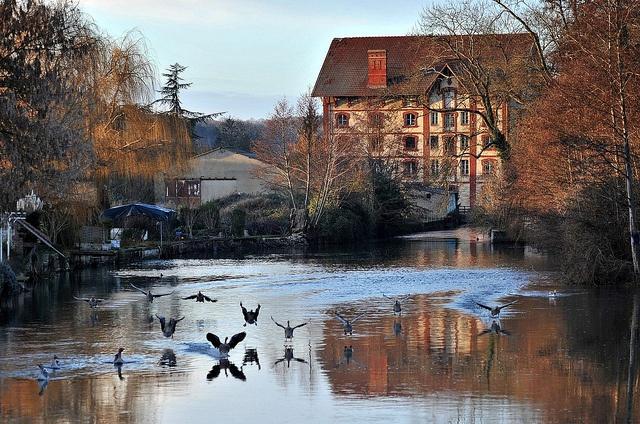 Le moulin de Garennes-sur-Eure, Haute-Normandie.