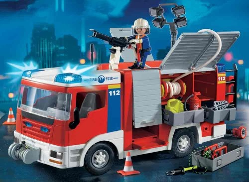 $59.99 Playmobil Fire Engine Fireman  From PLAYMOBIL®   Get it here: http://astore.amazon.com/toys4kids09-20/detail/B0021ZQP2O/186-4678595-8875665