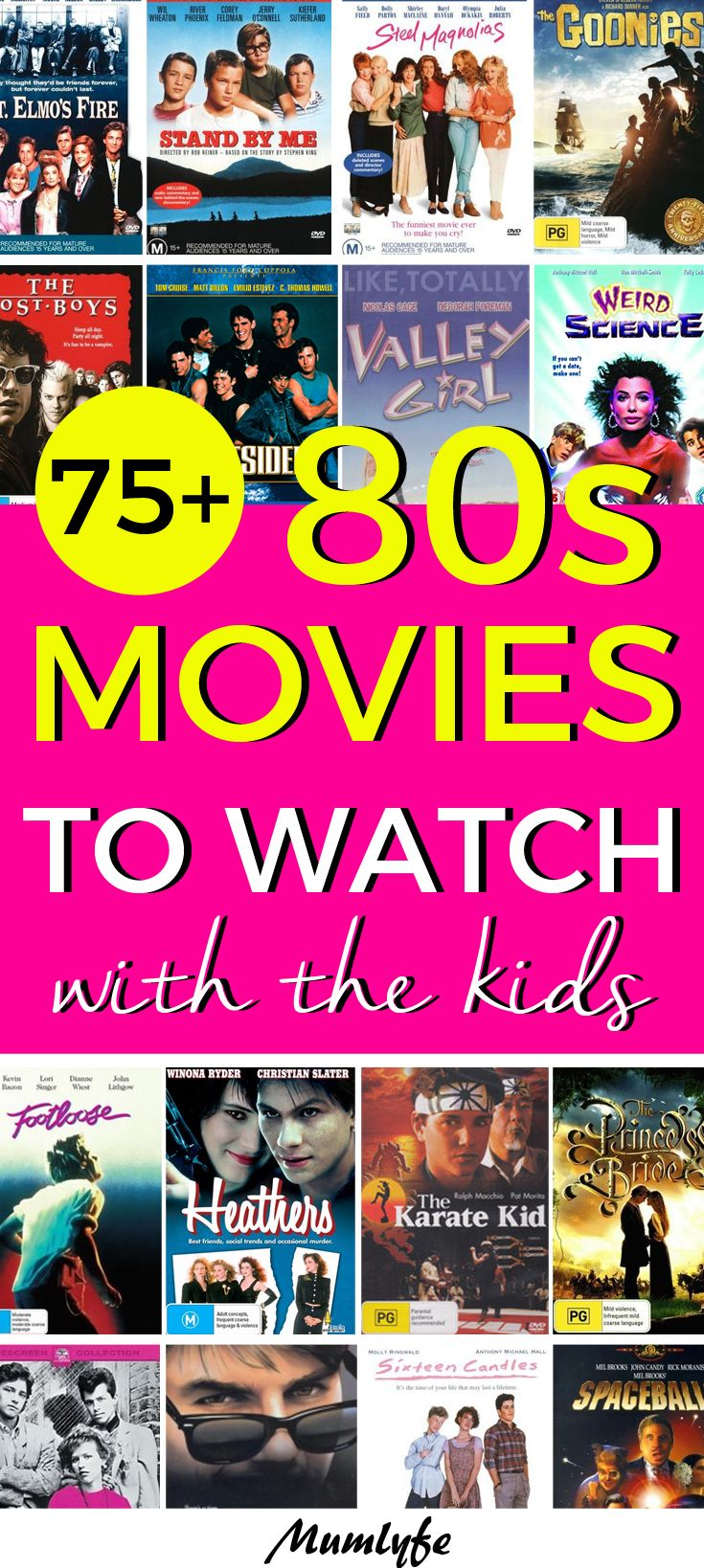 The Best 80s Movies To Watch With The Kids Awesome Way To Spend Time Together 80smovies Teens Movies 80s Movies Teens Movies Teenage Movie