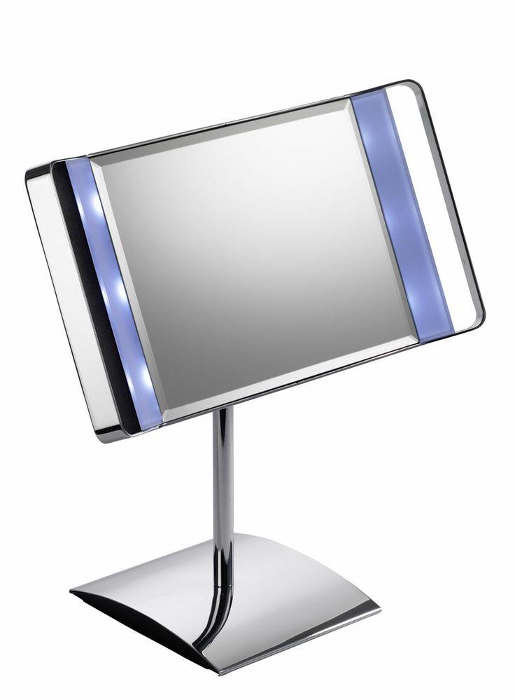 Kosmetikspiegel beleuchtet Maxima   Kosmetikspiegel beleuchtet mit LED.  Schminkspiegel mit normaler Ansicht. Standspiegel mit Batteriebetrieb.