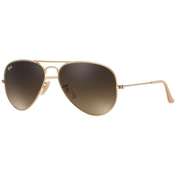 Ray-Ban Men's Aviator Gold Sunglasses, Brown Gradient Lenses - Rb3025 ($165) ❤ liked on Polyvore featuring men's fashion, men's accessories, men's eyewear, men's sunglasses, gold, ray ban mens sunglasses, mens aviator sunglasses, mens gold aviator sunglasses, mens eyewear and mens aviators
