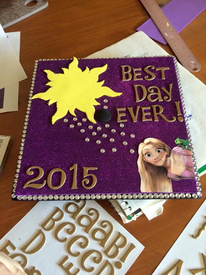 Graduation cap design Disney Rapunzel Tangled
