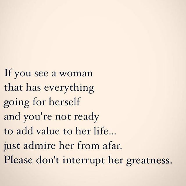 Dont interrupt my greatness...