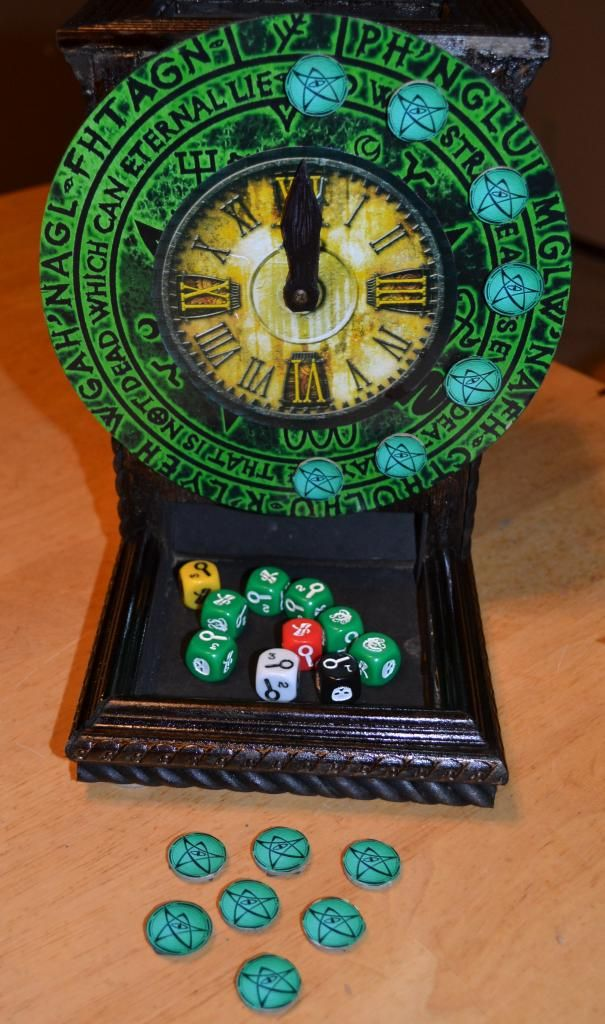 Elder Sign Dice Tower - also includes a tutorial. pretty swank  (add important info to a tower)