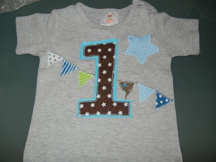 Geburtstagsshirt mit Zahl - Wunschzahl  von MeinAtelier auf DaWanda.com