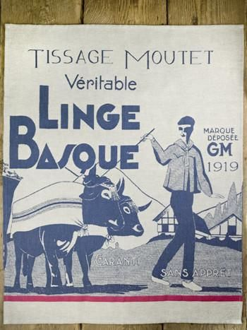 Moutet 1919 linge basque tea towel