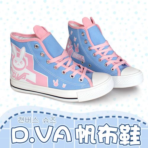 Overwatch-D-VA-DVA-Cosplay-Casual-Shoes-Rabbit-Canvas-Shoes-Ladies-ankle-boots