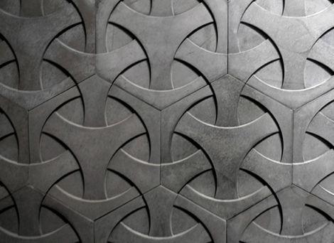 Concrete tiles; Daniel Ogassian