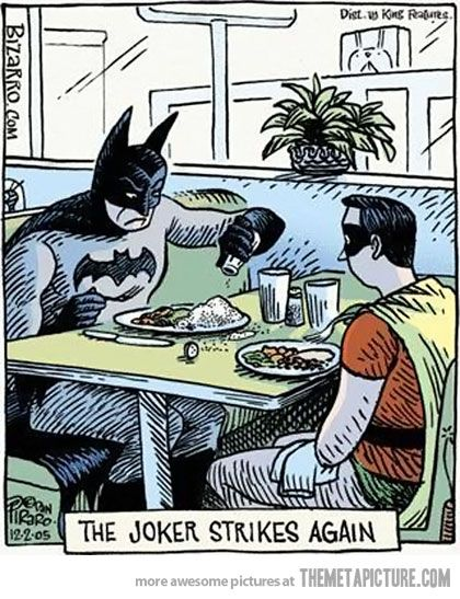 What a sick mind…: The Joker, Comic, Jokers, Funny Stuff, Batman, Humor, Joker Strikes, Superhero
