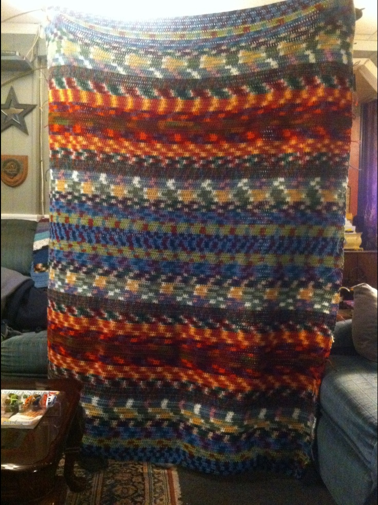 Free Crochet Afghan Patterns Using Variegated Yarn : 101 best images about Crochet Afghans without Motifs on ...