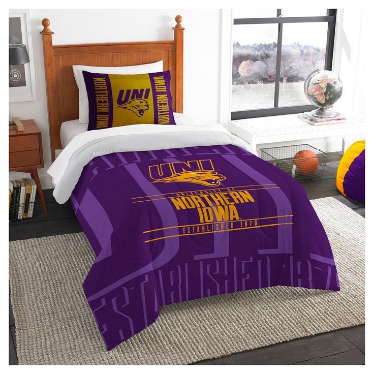 NCAA Northwest Modern Take Twin Comforter Set Northern Iowa Panthers - 64 x 86