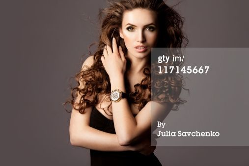 Title: Beautiful woman with watches Creative image #: 117145667 License type: Royalty-free Photographer: Julia Savchenko Collection: Vetta Credit: Julia Savchenko Release information:This image has a signed model release. This image is available for commercial use. Copyright: Julia Savchenko Availability: Availability for this image cannot be guaranteed until time of purchase.