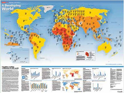 Link to the Developing World Map - looking at Human Development Index