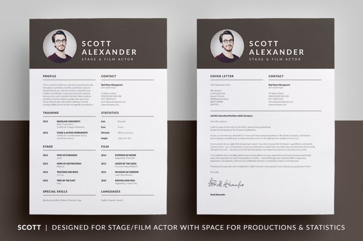Film Actor Resume Template Acting Resume Template PSD - actor resume