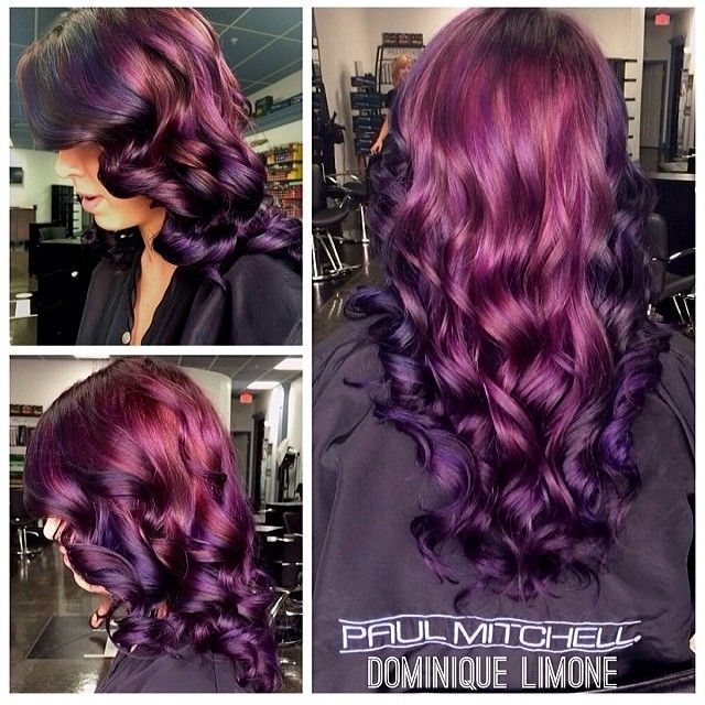 Wish I had the guts to do this. Just not sure I could deal with purple hair every day.