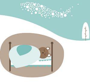 Bjørnen sover - tekst og musikk med videoklipp med tegn til tale