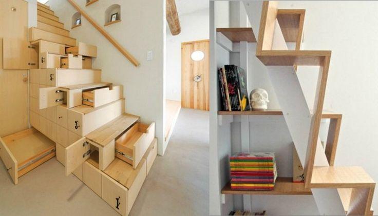 Escalier contreplaqu recherche google escaliers pinterest gain de pl - Escalier de rangement ...