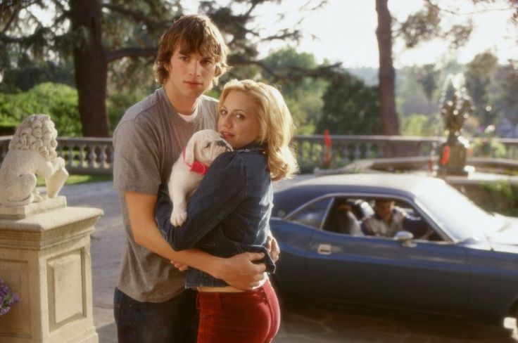 Ashton Kutcher and Brittany Murphy in Just Married