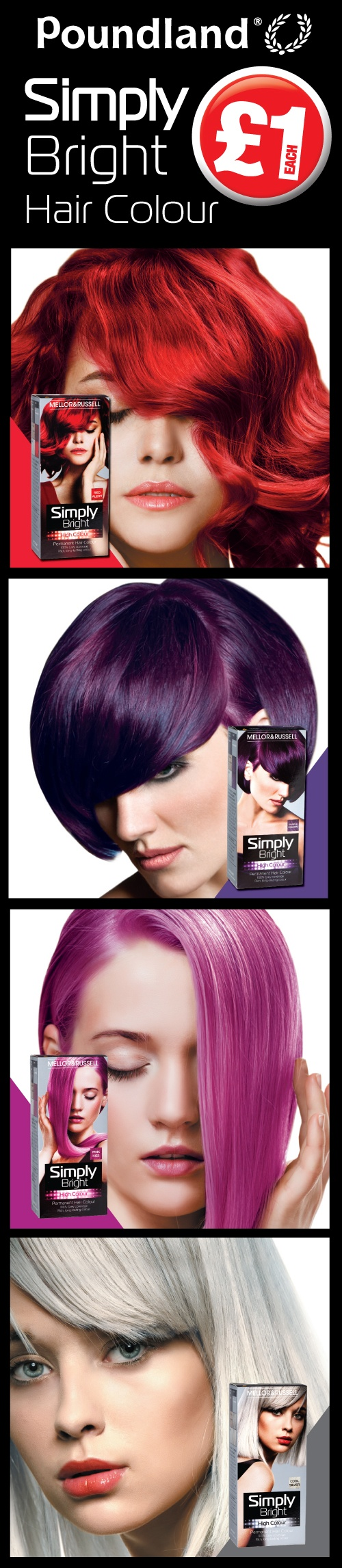 White apron poundland - Simply Bright Hair Colour Exclusive To Poundland Which One Will You Choose Let Us