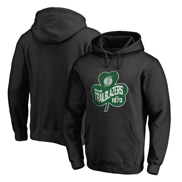 Portland Trail Blazers Fanatics Branded Big & Tall St. Patrick's Day Paddy's Pride Pullover Hoodie - Black - $69.99