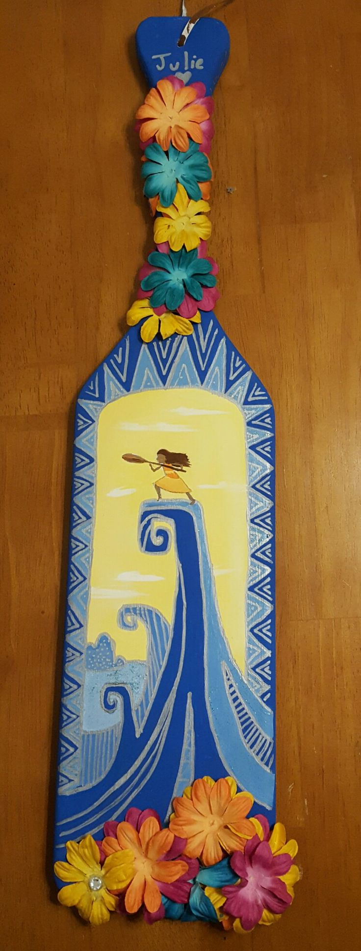 I'd love this as a paddle but with the flowers as the border and a simpler design in the middle so that we can still fit my name, my littles name, and Phi Sig on it and be able to read it!