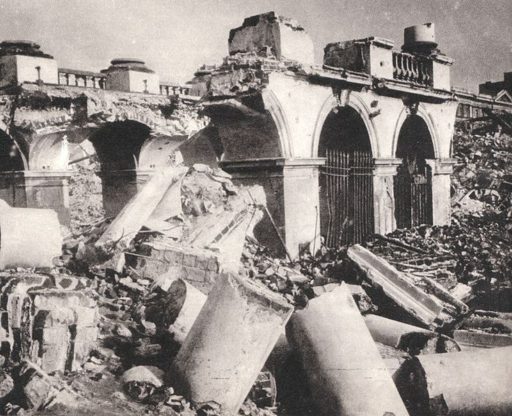 Pałac Saski w Warszawie [Saxon or Saski  Palace, Warsaw] destroyed by Germans in 1944.