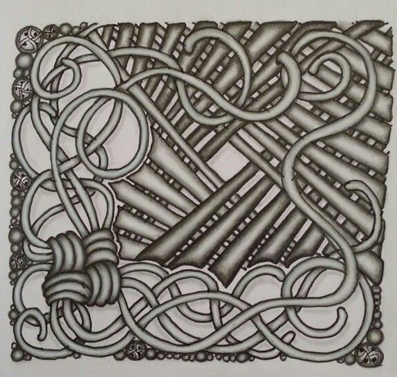 Zentangle tile tangle patterns used mak rah mee lap for Zentangle tile template