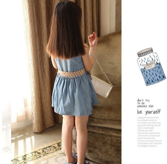 Niñas vestido del verano vestidos de princesa cabritos ocasionales del algodón vestido   Precio: $ 65.900 Talla: 3T 4T 6 8 10